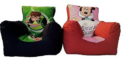 kids bean bag chair with beans children beanbag , minnie mouse, peppa, mickey