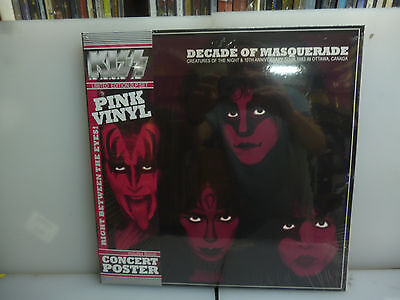 Kiss-Decade Of Masquerade.ottawa, Canada 83-Gatefold 2Lp Pink Vinyl- New.sealed.