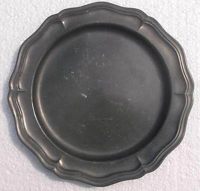 Vintage French Pewter Plate #MO8