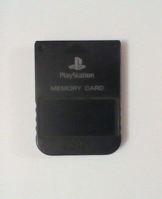 Official Sony Playstation One Memory Card - PSOne PS1- SCPH1020