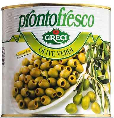 Greci Pitted Green Olives X2.6Kg