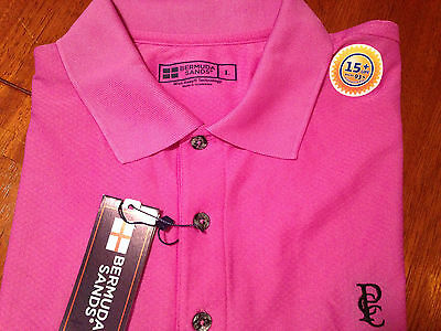 Bermuda Sands NWT Polo Men's Golf Shirt Large ,Orchid Color Pulaski Country Club