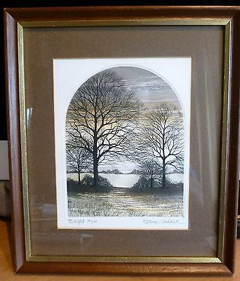 "Kathleen Caddick Limited Edition Signed Framed Print""TWILIGHT"" No. 141 of 150"