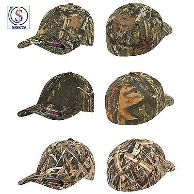d6220324181af FLEXFIT CAMO CAP Green or Silver Camouflage Fitted Hat 6977CA S M ...