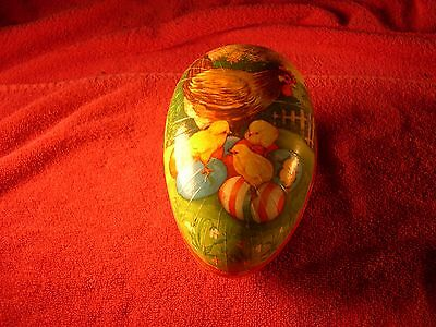 Vintage West Germany Cardboard Easter Egg Candy Container Chickens Eggs Peeps