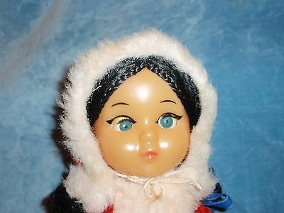 Old Russian Vintage Doll, 45cm, Plastic, Wig, USSR, 60's-70s