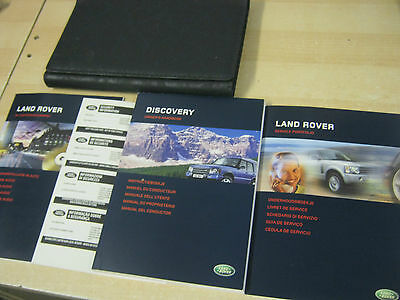 Land Rover Discovery 2002-2005 Handbook Pack Owners Manual Inc New Service Book