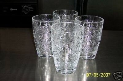 Princess House Fantasia  Large Clear Beverage Tumblers / Glasses