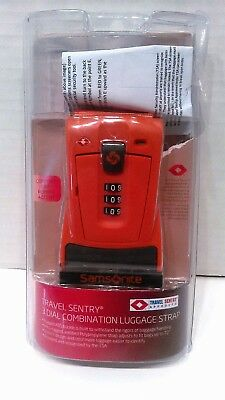 Samsonite Travel Sentry 3 Dial Combination Luggage Strap with Rugged ABS Buckle