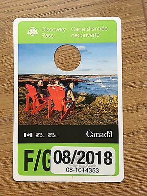 Parks Canada FAMILY Discovery Pass - Expires Aug 2018