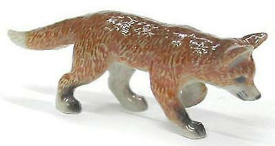 Northern Rose Miniature Porcelain Animal Figure Red Fox Cub Hunting R323