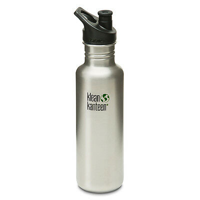 Klean Kanteen Classic 27 oz. Bottle with 3.0 Sport Cap - Brushed Stainless