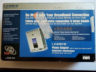 Linksys PAP2 Phone Adapter With 2 Ports For Voice-Over-IP VOIP Vonage