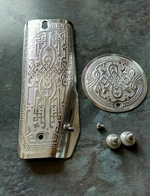 Egyptian Scroll Face Plate & Rear Plate for Vintage Singer Sewing Machine 201K