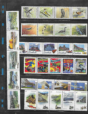 Canada  7 strip  F.V $ 14.14  MNH  ( From Annual Year Book)