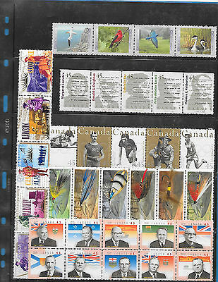Canada  6 Strip  F.V $ 15.63  MNH  ( From Annual Year Book)