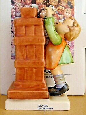 Hum 118 Little Thrifty Bank W/key Goebel M.i. Hummel Figurine Germany Signed Nib