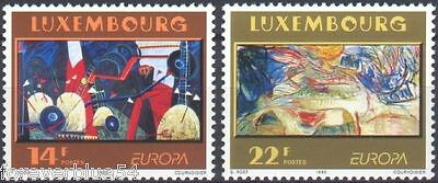 Luxembourg 1993 SG 1356-1357  Mi 1318-9 MNH Contemporary Art Europa combined p&p