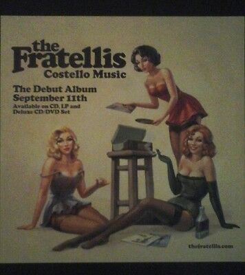 The Fratellis - Costello Music -  Uk Poster Display Promo Flat Rare