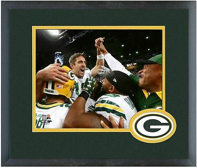 AARON RODGERS NFL Framed/Matted 8X10 Celebration Photo (Pick Your Photo's)