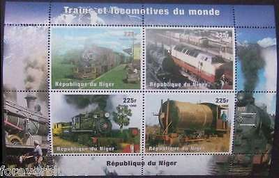 Niger 1999 (1998) Sc 1013 MNH  Trains & Locomotives  combined postage