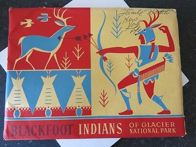 vintage 1958 Blackfeet Indians of Glacier National Park Portfolio Booklet SEALED