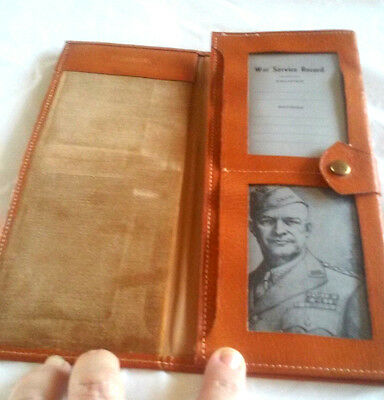 WWII Military Service Record Discharge Papers Decortions Protect Wallet Holder