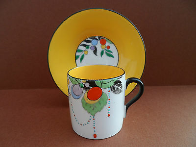A superb Shelley Mocha coffee can & saucer pattern No 11441/32. C.1925.