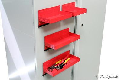4pc Magnetic Toolbox Tray Set Tool Box Cabinet Side Garage Parts Shelf Storage