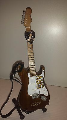 Miniature Guitar STEVIE RAY VAUGHAN SRV with strap, box, stand and FREE pick!!