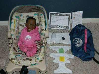 Reality Works Real Care Baby 3 Iii African Female Bundle Diapers Bottle Bag