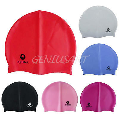 Waterproof Men Women Adults Kids Silicone Swimming Cap Silicone Swim Hat