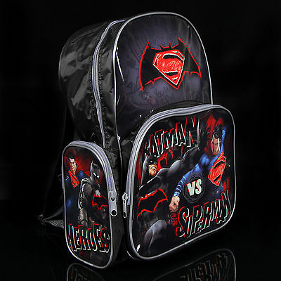 Brand new kids toddlers Batman VS Superman backpack school bag Free Shipping