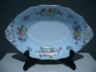 Lovely E B Foley England Floral Hand Accented Serving Bowl - Good Condition