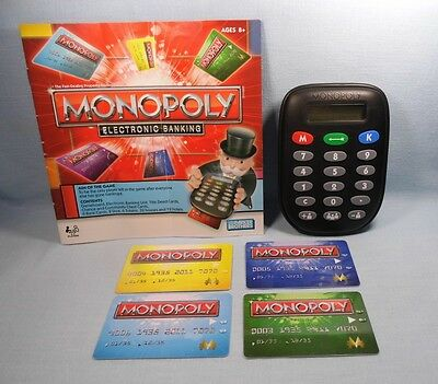 Monopoly Electronic Banking Edition 2011 Banking Unit & 4 Cards Instructions