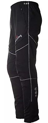 4ucycling Mens Exercise Running/Cycling Windproof Pants for Winter Black M