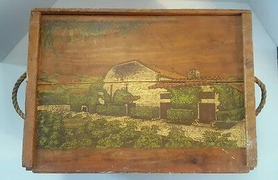 Vintage Mirassou Vineyards Large Wood Wine Box