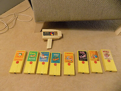 Vtg Lot 1973 Fisher Price Movie Viewer 8 Cartridges Dumbo Goofy Pluto Rescuers +