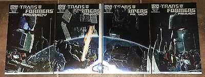 TRANSFORMERS Primacy #1 2 3 4 Variant Comic Set IDW HTF