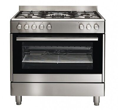 Euromaid 90cm Stainless Steel Dual Fuel Stove - Model: GE90S