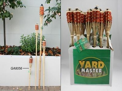6 x Bamboo Garden Torch use citronella for mozzies 600mm