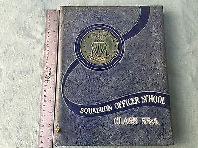 Vintage Military Yearbook Squadron Officer School Class 55-A Maxwell Afb Alabama