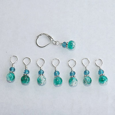 Knitting Stitch Markers, Handmade, Beaded   #097