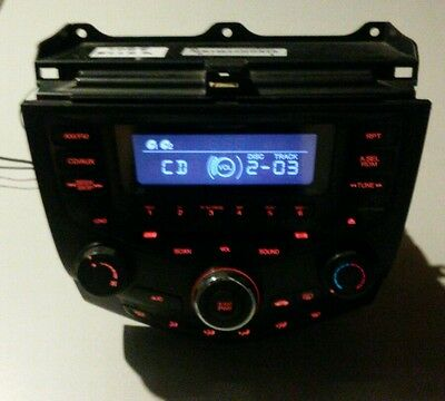 03-07 Honda Accord Radio CD Player Heat Climate Control OEM # 39175-SDN-A110