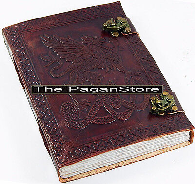 "Fighting Griffin leather Journal 6"" X 8"" Eco Paper Diary , Journal Dream Book"