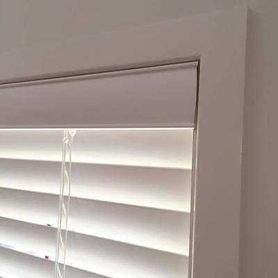 Quality white timber venetian blinds 2400mm width 1370mm drop