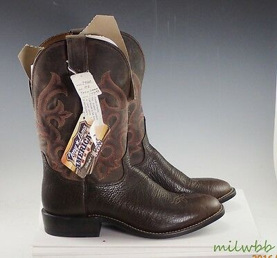 Tony Lama 7940 11 inch Men's Conquistador Leather Pull On Work Boot 9 D New
