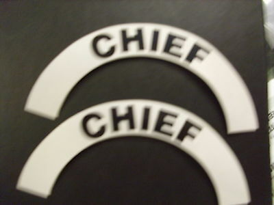 Crescents  Pair Chief For Fire Helmet Or Hardhats