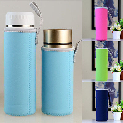 Sport Water Bottle Case Insulated Wide Mouth Bag Pouch Holder Sleeve Carrier New