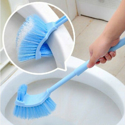 Useful Bathroom Long Handle Toilet Bowl Scrub Double Side Cleaning Brush FI